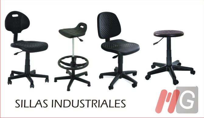 Muebles para oficina escritorios archiveros sillas for Sillas para trabajo industrial